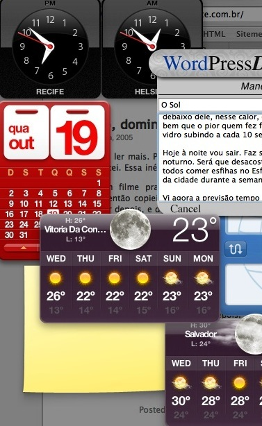 previsão do tempo